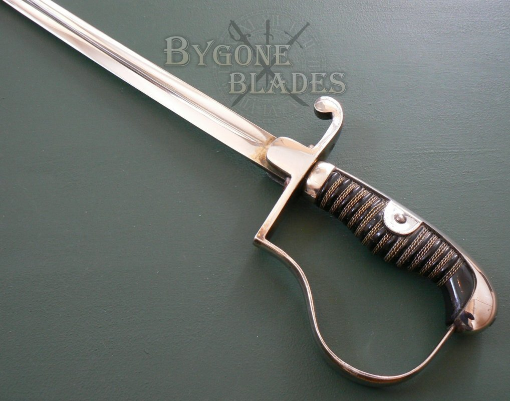 german ww2 army nco sword by wkc bygone blades